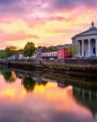 Cork City Hall during sunset