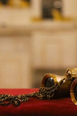 Golden opera binoculars